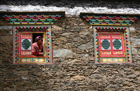Окна традиционного тибетского дома. Фото: China photos/ Getty image