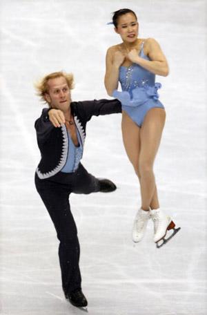 Американська пара Rena Inoue і John Baldwin на чемпіонаті світу з фігурного катання. Фото: Koichi Kamoshida/Getty Images