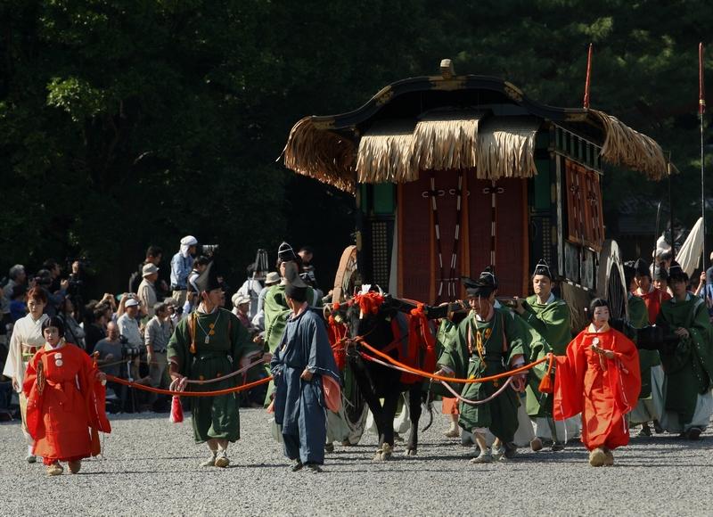 Киото, Япония, 22 октября. В городе проходит «Фестиваль эпох» или Дзидай Мацури, который проводится с 1895 г. в день основания Киото. Фото: Buddhika Weerasinghe/Getty Images