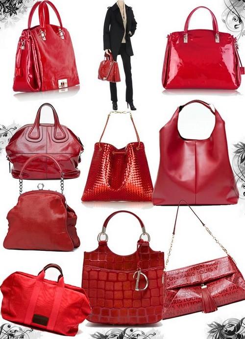 Модные сумки осень-зима 2008-2009 - красная