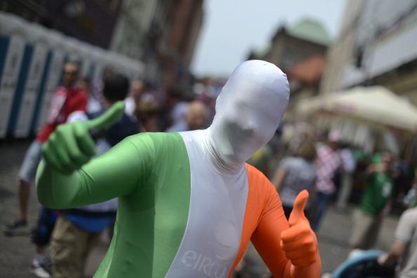 Ирландские болельщики собираются в Познани до матча Хорватии против Ирландии 10 июня 2012 г. Фото: ODD Andersen/AFP/GettyImages