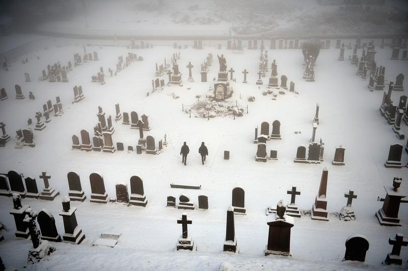 Стирлинг, Шотландия, 3 декабря. На севере Европы — сильные метели и снегопады. Фото: Jeff J Mitchell/Getty Images