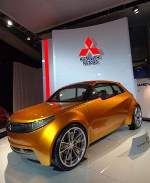 Автомобіль Mitsubishi Concept-CT. Фото: Bryan Mitchell/Getty Images