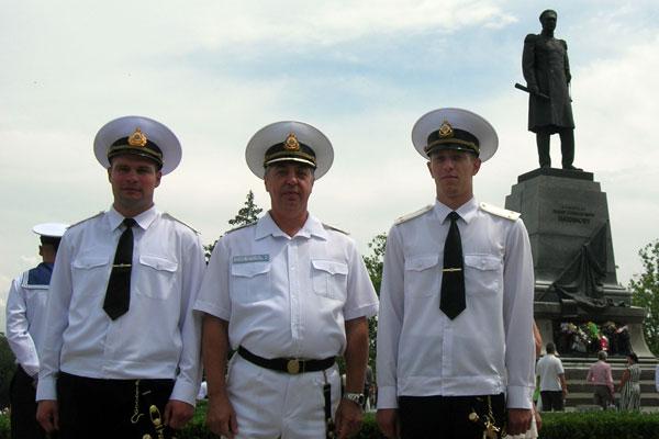 Офицеры ВМС Украины. Фото: Алла Лавриненко/The Epoch Times