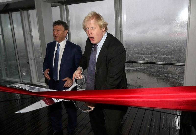 Лондон, Англія, 1 лютого. Мер Борис Джонсон офіційно відкрив хмарочос «Уламок» для відвідувачів. Фото: Matthew Lloyd/Getty Images