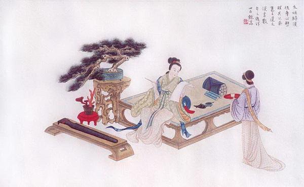 После того, как Цай Вэньцзи возвратилась в Китай, она сосредоточилась на том, чтобы восстановить по памяти свитки её отца, которые были утеряны во время войн. В течение нескольких лет она восстановила более 400 из них. Рисунок: Чжан Цуйин