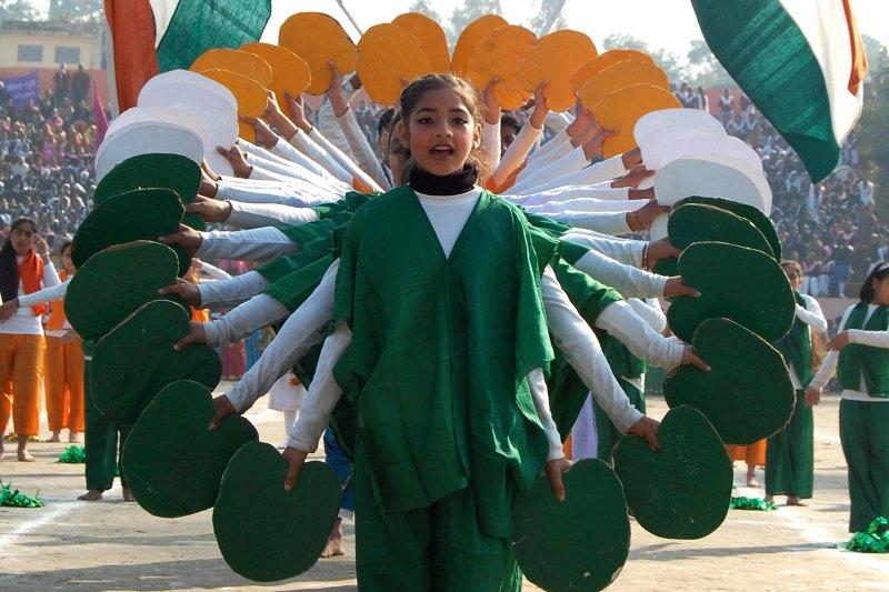 Вистава школярів у Амрітсарі. Фото: NARINDER NANU/AFP/Getty Images