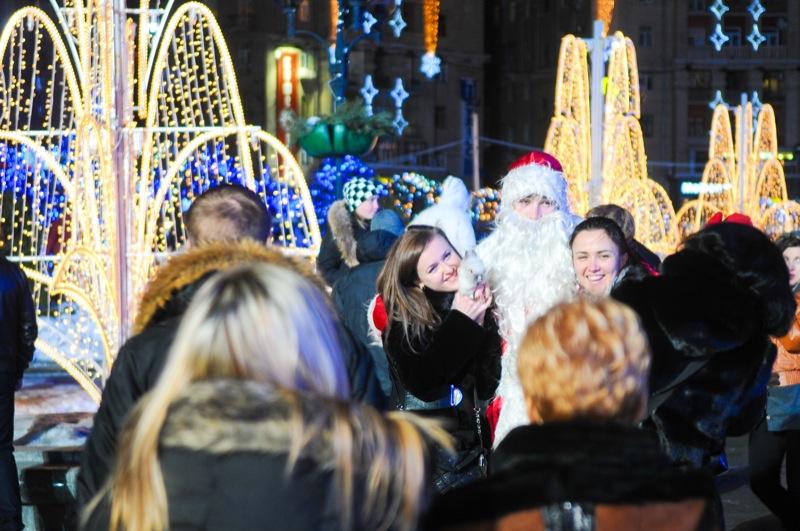 Киев готовится встретить Новый Год на Майдане. Фото: Владимир Бородин/Великая Эпоха