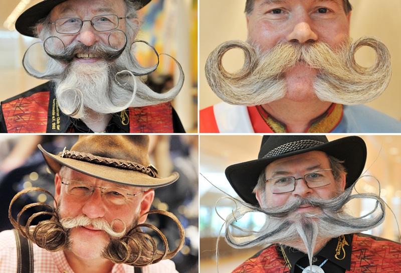 Пфорцхайм, южная Германия, 27 апреля. В городе проходит конкурс бородачей. Фото: ULI DECK/AFP/Getty Images