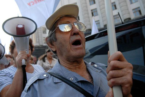 Предприниматели вышли к Кабинету Министров с предупредительной акцией протеста. Фото: Владимир Бородин/The Epoch Times