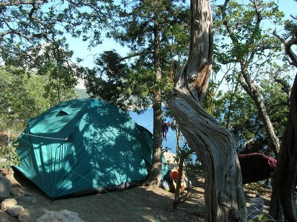 Бухта Ласпи: палаточный городок. Фото: Алла Лавриненко/The Epoch Times Украина