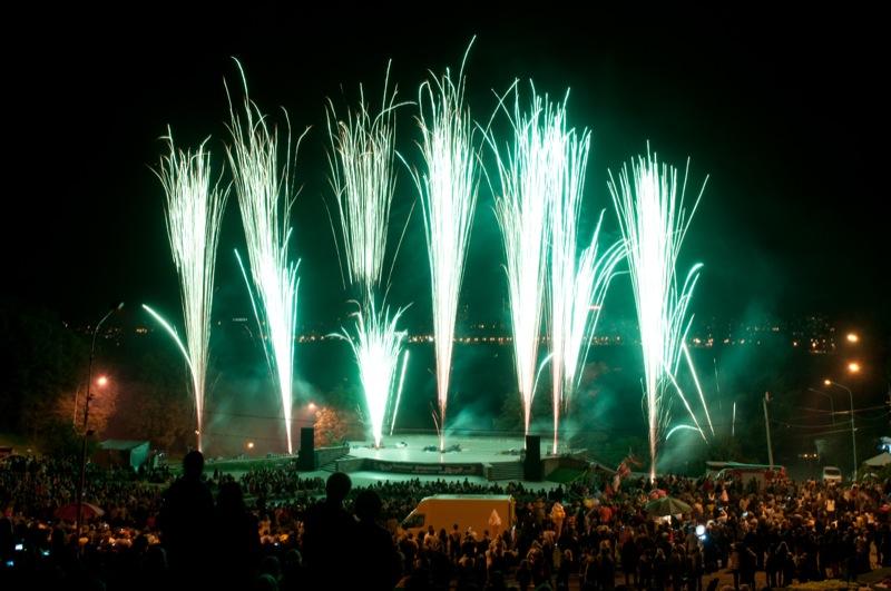 Чемпіонат феєрверків «Танець вогню» пройшов у Києві 7—9 вересня. Фото: Володимир Бородін/Велика Епоха