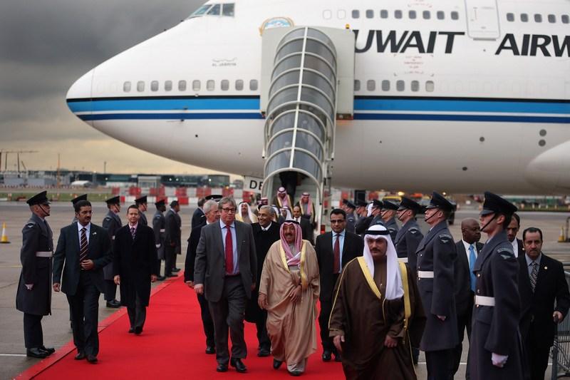 Лондон, Англия, 26 ноября. Эмир Кувейта Сабах аль-Ахмед аль-Джабер ас-Сабах прибыл в страну с трёхдневным визитом. Фото: Dan Kitwood/Getty Images