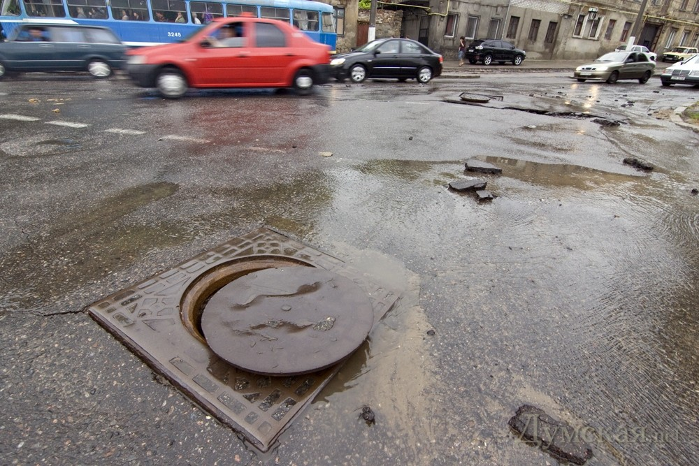 Одеські вулиці після потопу. Фото: Думская.net