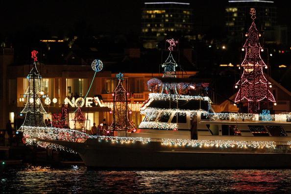 Рождественский парад лодок в Калифорн. Фото: David McNew/Getty Images