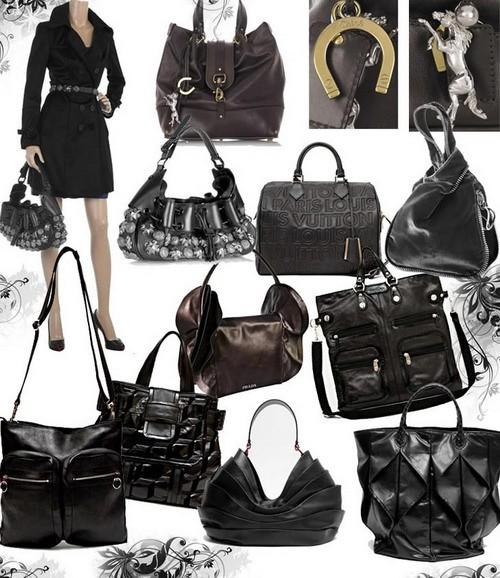 Модные сумки осень-зима 2008-2009- черная