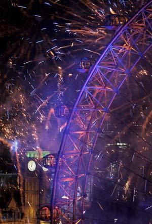Феєрверк біля Біг-Бену у Лондоні. Фото: Getty Images