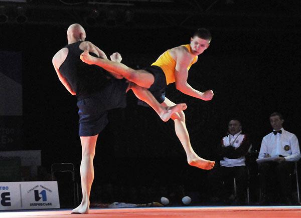 Бой представителей хортинга на Олимпиаде боевых искусств в Киеве 12 марта 2011 года. Фото: Владимир Бородин/The Epoch Times Украина