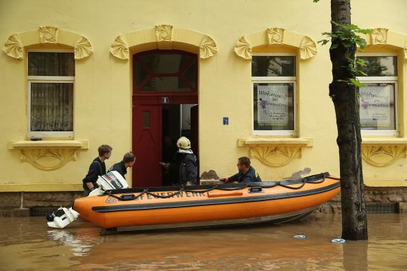 Затопленный город Цайц, Германия. Фото: Sean Gallup / Getty Images