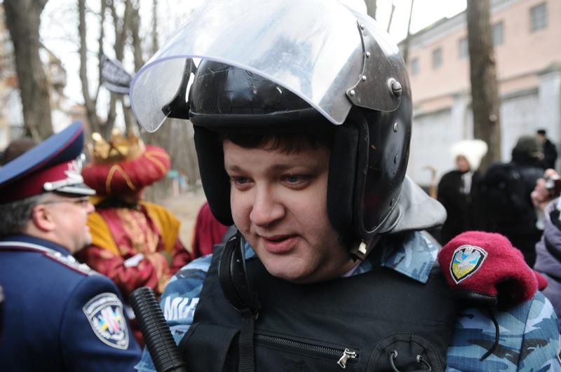 Вертеп в поддержку Луценко прошёл возле Лукьяновского СИЗО. Фото: Владимир Бородин/The Epoch Times Украина