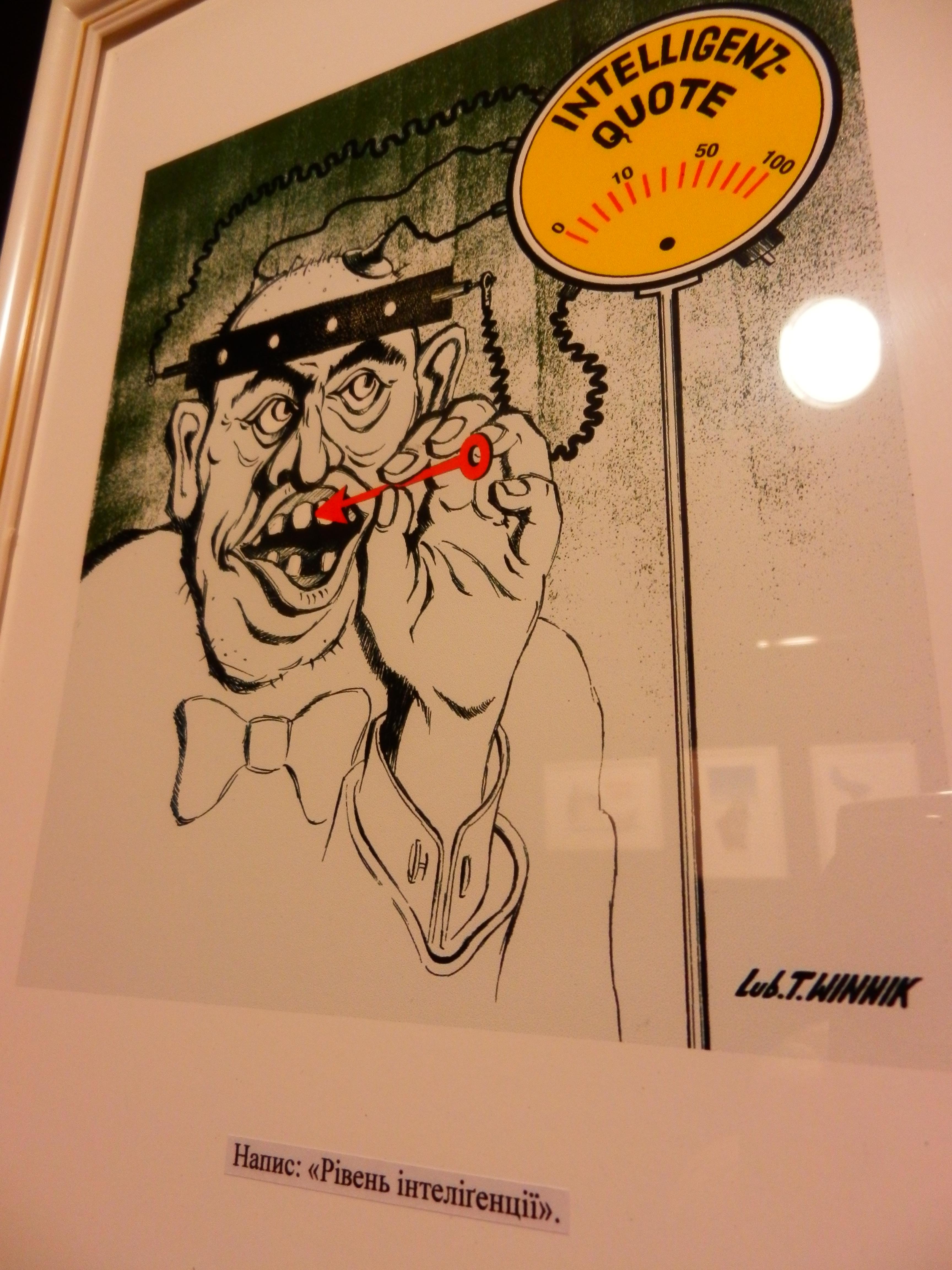 Музей ідей. Види з виставки сатиричних рисунків у стилі картун Любомира Т. Винника.