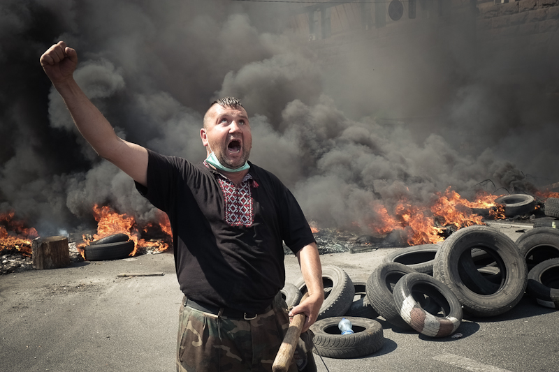 События на Майдане 7 августа 2014 года. Фото: Великая Эпоха