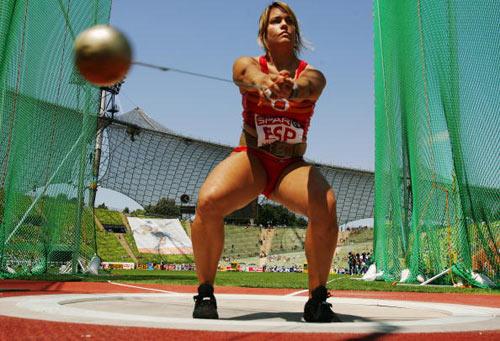 Мюнхен. Германия.  Испанка Berta Castells во время Кубка Европы-2007 по лёгкой атлетике.  Фото: Ian Walton/Getty Images