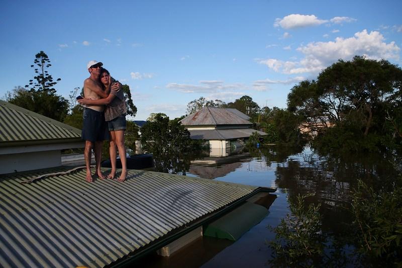 Бандаберг, Австралія, 29 січня. Тропічний циклон Освальд затопив сотні будинків у південній частині штату Квінсленд. Фото: Chris Hyde/Getty Images