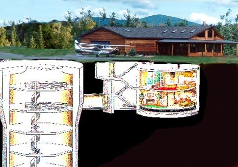 Дом в ракетной шахте. Фото: life.pravda.com.ua