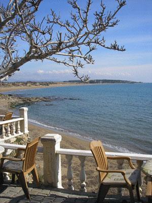 Ресторан у моря в Сиде. Фото: Елена Подсосонная