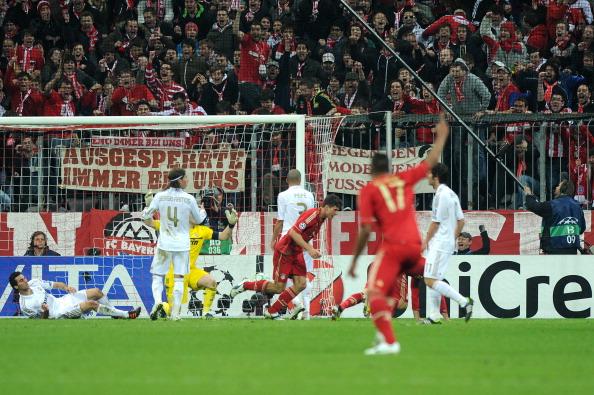 Баварія обіграла Мадридський Реал з рахунком 2:1. Фото: Christof Stache/AFP/Getty Images