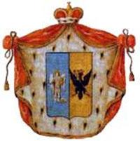 Старовинний Герб князів Волконських (кольоровість щита як і у прапора України!)