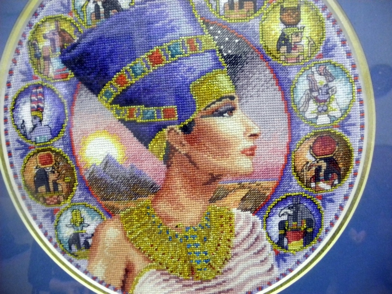 Вышивка «Нефертити», автор А.Семенов. Фото: Алла Лавриненко/The Epoch Times Украина