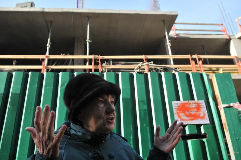 Акция против незаконного строительства в историческом центре Киева прошла 8 ноября. Фото: Владимир Бородин/The Epoch Times Украина