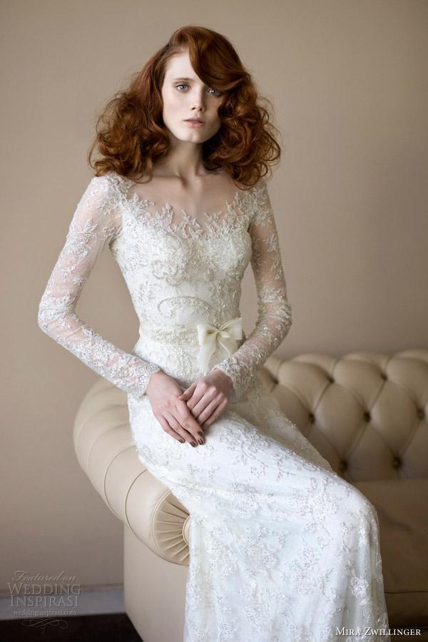 Колекція весільних суконь 2013/14 від ізраїльського дизайнера Міри Цвіллінгер (Mira Zwillinger). Фото: weddinginspirasi.com