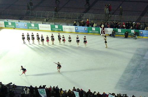 Открытие ледового катка в Киеве. Фото: Великая Эпоха