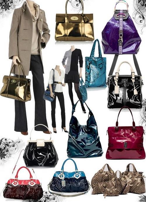 Модные сумки осень-зима 2008-2009- лаковая