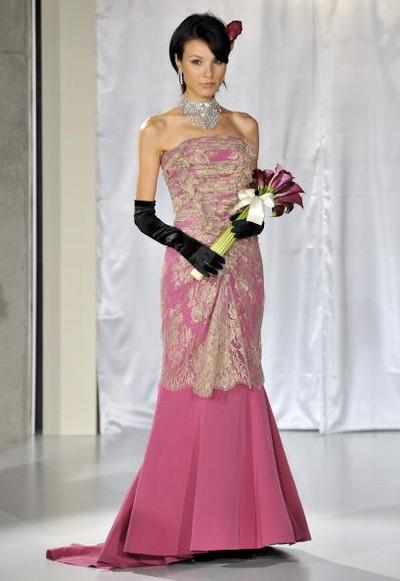 Свадебные платья от янпонского дизайнера Yuma Koshino/Pucchin Dog's via Getty Images