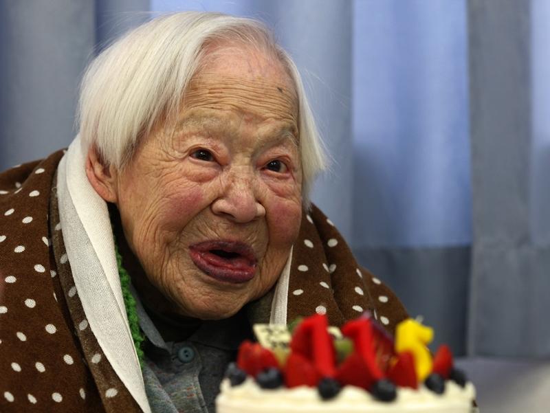 Лондон, Великобритания, 5 марта. Старейшей женщине планеты, Мисао Окава, исполнилось 115 лет. Фото: Buddhika Weerasinghe/Getty Images