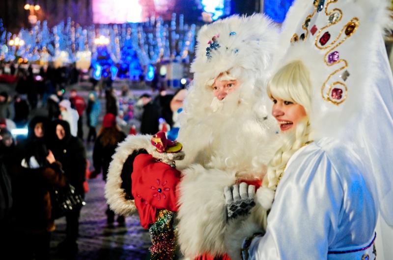 Київ готується зустріти Новий Рік на Майдані. Фото: Володимир Бородін / Велика Епоха