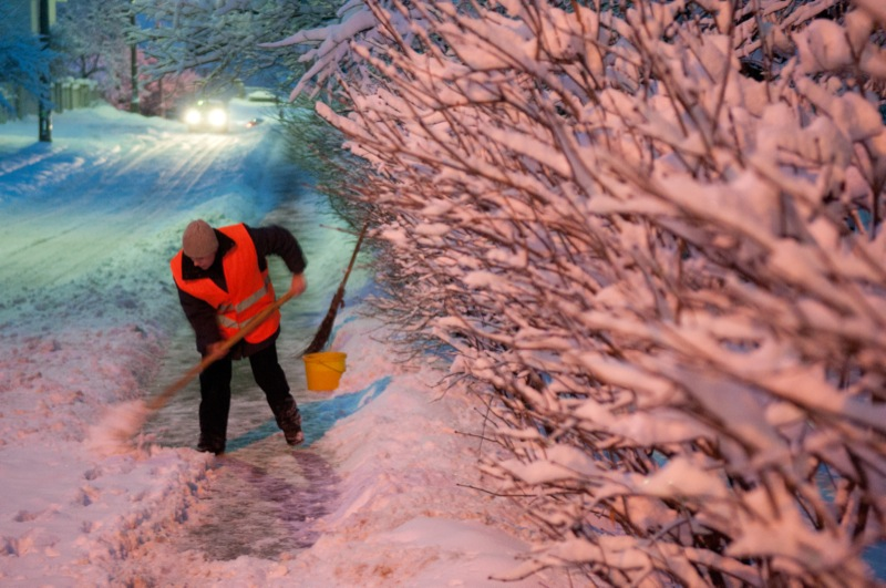 Київ огорнений білосніжним покривалом. Фото: Володимир Бородін/The Epoch Times Україна