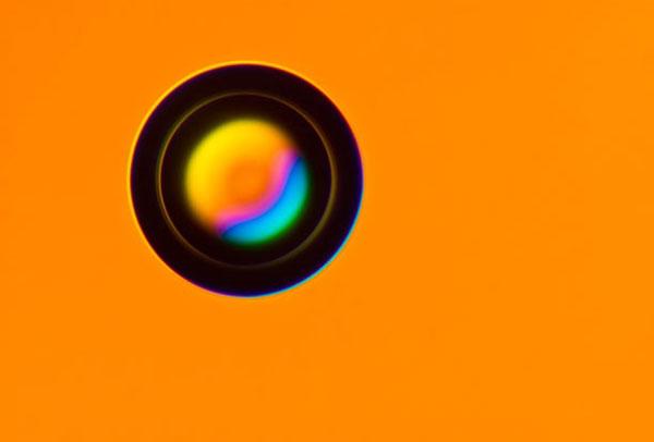 Повітряний пухирець у медичному гелі (збільшення у 300 разів). Фото зроблено у Вроцлавському Університеті, Польща