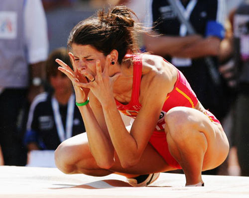 Мюнхен. Германия. Испанка Ruth Beitia во время Кубка Европы-2007 по лёгкой атлетике.  Фото: Ian Walton/Getty Images