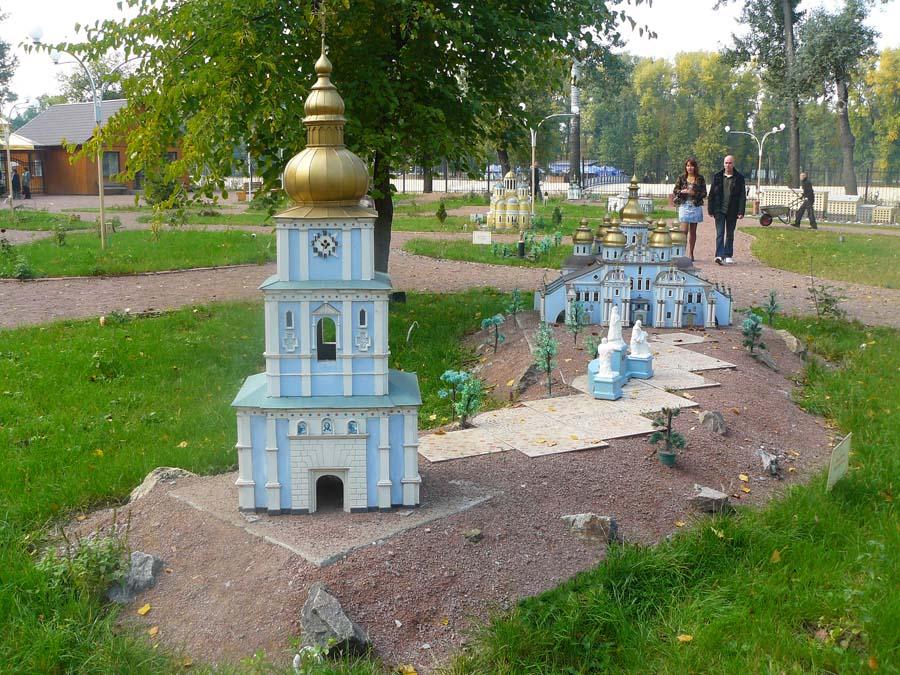 Михайлівський Золотоверхий монастир. Парк «Київ у мініатюрі». Фото: minikiev.kiev.ua