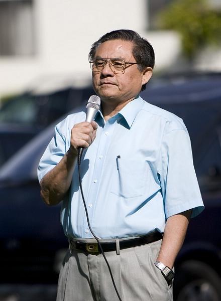 Виступає президент перехідного уряду Китаю пан У. (Ji Yuan/The Epoch Times)