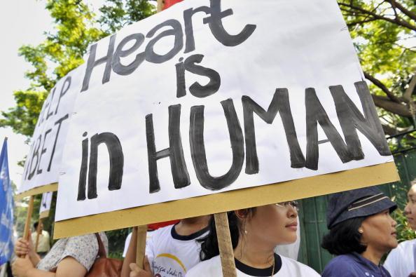 27 марта. Акция в защиту Тибета в Джакарте. Фото: ADEK BERRY/AFP/Getty Images