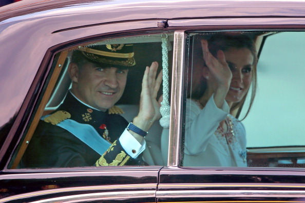 Король Испании Фелипе VI и его жена королева Летиция. Фото: Christopher Furlong/Getty Images