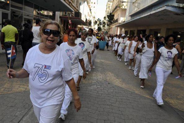 Гавана (Куба). Мероприятия, посвящённые Дню прав человека. 10 декабря. 2008 г. Фото: GETTY IMAGES