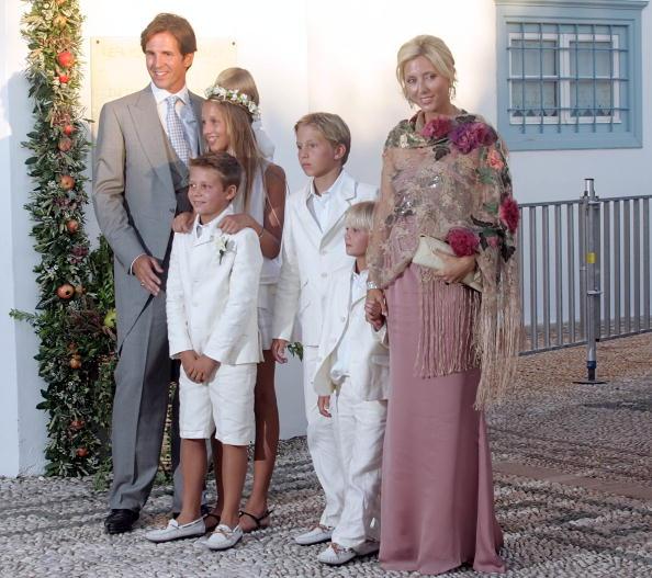 Гості на весіллі принца Греції Ніколаоса і Тетяни Блатнік. Наслідна принцеса Греції Марія і принц Греції Павлос. Фоторепортаж. Фото: Chris Jackson / Getty Images