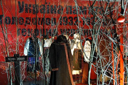 Экспозиция на выставке «Украина помнит! Голодомор 1932–1933 гг. – геноцид Украинского народа». Фото: Владимир Бородин/Великая Эпоха